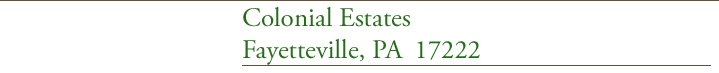 Colonial Estates manufactured home community of Fayetteville, PA